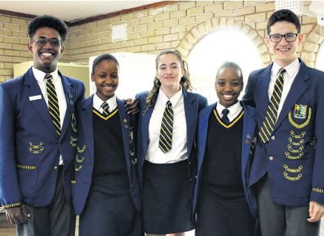 ??  ?? Empangeni High School learners who attended - Jodie-Ray Motala, Ntokozo Kunene, Meré Upton, Senamile Kunene and Ituman du Plessis