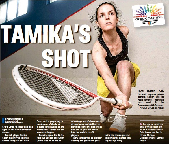 PressReader - The Coffs Coast Advocate: 2018-03-28 - TAMIKA'S SHOT