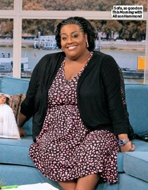 ??  ?? Sofa, so good on This Morning with Alison Hammond