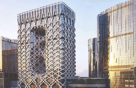 ??  ?? Morpheus rises: Designed by Zaha Hadid, the first woman to be awarded the prestigious Pritzker Architecture Prize, Morpheus hotel at City of Dreams Macau is the world's first free-form exoskeleton-bound high-rise architectural masterpiece.