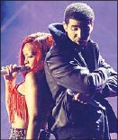 ?? Robert Gauthier Los Angeles Times ?? DRAKE and Rihanna at '11 Grammys.