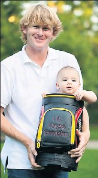 """?? By Brooke Rainey ?? Bundle of joy: Brandt Snedeker says that since Lily, 1, was born, """"I practice smarter. . . . I don't live and die with every shot."""""""