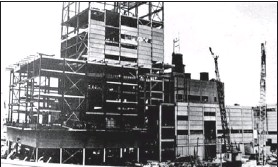 ?? Submitted photo ?? This photo shows the Point Tupper pulp mill while it was under construction. Work on the mill began in November 1959 and it began operating in early 1962.