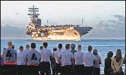 ?? DustinW. Sisco ?? THE THREE Navy admirals had been assigned leadership positions to the carrier Ronald Reagan.