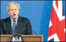 ??  ?? Premier Boris Johnson sprach zur Nation.