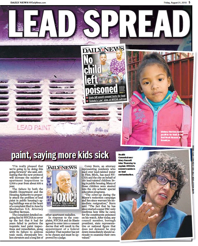 health commissioner mary bassett tries thursday to explain nychas newest numbers on lead contamination