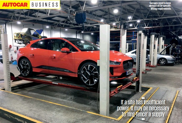 ??  ?? Garages need to keep abreast of Ev-specific lifting requirements