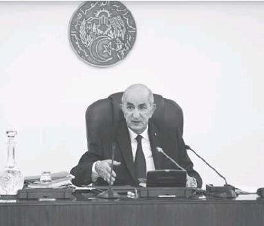 ??  ?? Le président Tebboune a assuré que «l'Algérie demeurera un Etat social»
