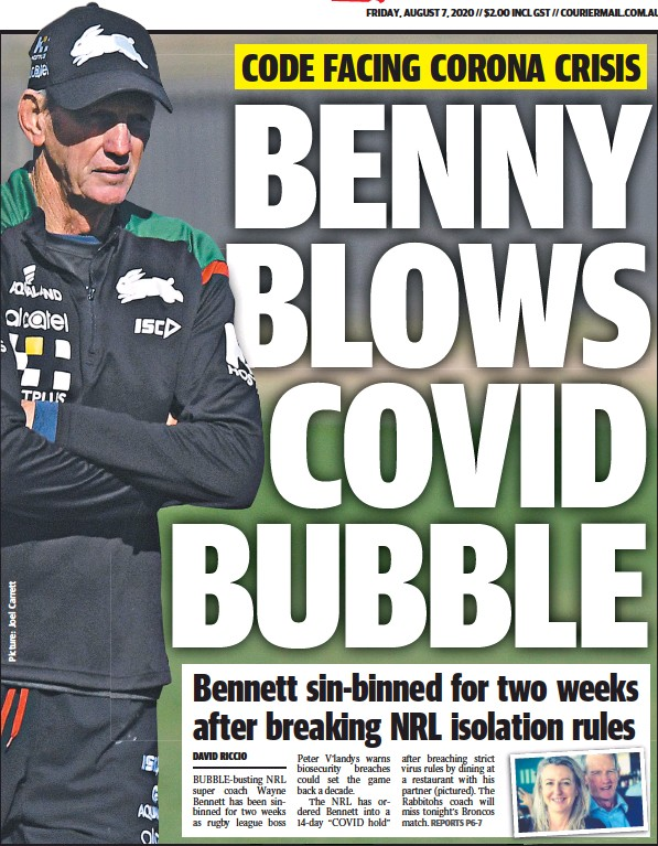 Pressreader The Courier Mail 2020 08 07 Benny Blows Covid Bubble