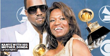 ??  ?? KANYE WITH HIS MOTHER, DONDA