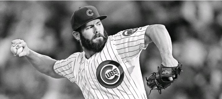 ?? JERRY LAI, USA TODAY SPORTS ?? National League Cy Young Award winner Jake Arrieta leads a Cubs rotation that features not only an elite top trio but also strong fourth and fifth starters.