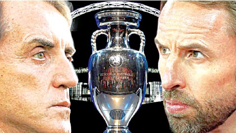 ??  ?? At today's Euro 2020 Final: Will football be coming home or going to Rome?