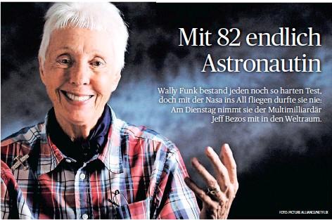 Mit 82 endlich Astronautin - PressReader