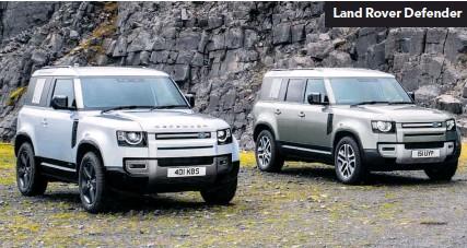 ??  ?? Land Rover Defender