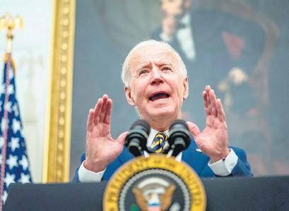 ?? EFE ?? Biden hereda una situación complicada en lo político, social, económico y sanitario.