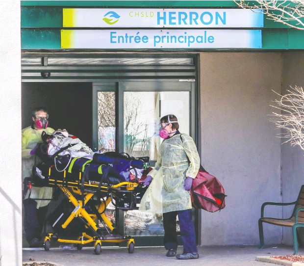 ?? JOHN MAHONEY / POSTMEDIA NEWS FILES ?? A sweeping inquiry will look into deaths at several long-term care centres across Quebec, but its main focus will be those that occurred at the Résidence Herron CHSLD in Dorval last spring during the COVID-19 pandemic.