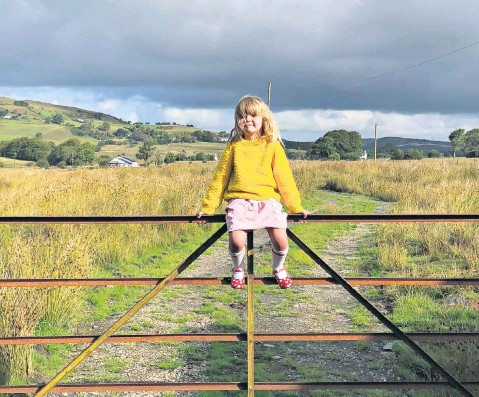??  ?? i Back to nature: Hattie's daughter Frida feels at home in a land of myth, magic – and sheep