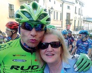 ??  ?? Il ricordo Luca Occhialini con la mamma scomparsa