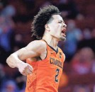 ?? SARAH PHIPPS/THE OKLAHOMAN ?? Oklahoma State's Cade Cunningham, who is averaging 19.8 points on 45.3% shooting, showed Saturday why he'll be the No. 1 pick in the NBA draft.