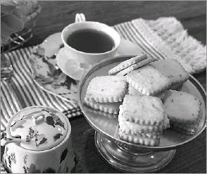 ?? Rex C. Curry/Special Contributor ?? Honey Lavender Tea Cookies are a delicious companion for a cup of tea.