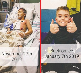 ?? FAMILY PHOTO ?? Zander Zatylny, 10, has had three open-heart surgeries — the most recent in November 2018 — but that hasn't slowed him down as he continues to play sports, volunteer and raise funds for CHEO.