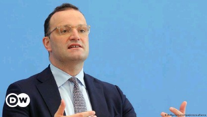 ??  ?? Health Minister Jens Spahn at a press conference in Berlin