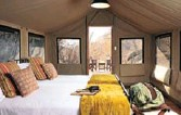 ?? PICTURE: ABELANA GAME RESERVE ?? Inside the tent.