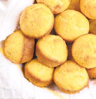 ?? DREAMSTIME ?? Combining flour with cornmeal lightens the batter.