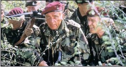 ??  ?? Richard Burton, left, and Richard Harris in The Wild Geese. BELOW: Mike Hoare today.