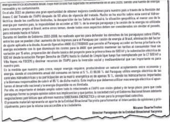 ??  ?? Parte inicial del documento entregado ayer por Nicanor Duarte al mandatario Mario Abdo Benítez.