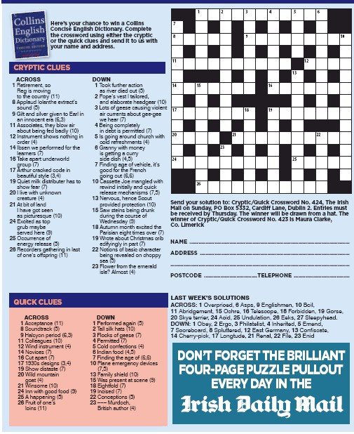 Cryptic Quick Crossword Pressreader
