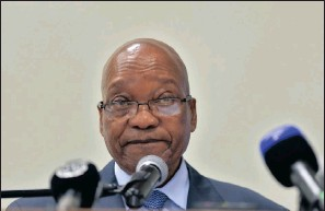 ??  ?? Debate is raging on who will succeed President Jacob Zuma.