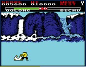 ??  ?? » [BBC Micro] The Beeb version takes some small elements from the MSX game, such as our hero cracking a smile when he wins.