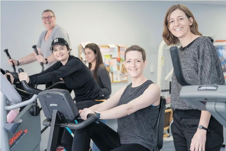 ?? — REID LUCIER ?? Left to right Trish Schulte, UBC student Lauren Barnett, Tara Buckley, Stephanie Knox and Kristin Campbell.