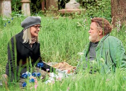 ??  ?? Diane Keaton and Brendan Gleeson star in the British movie Hampstead.