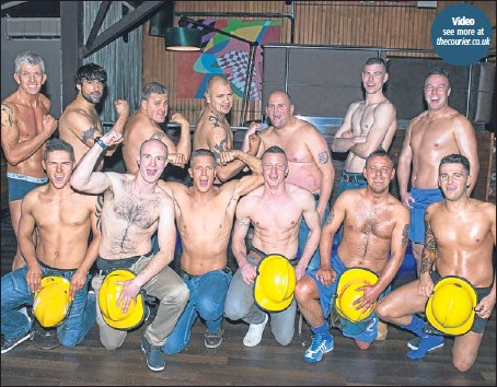 ?? Picture: Angus Findlay. ?? The brave fundraisers before the show.