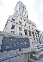 ?? AP PHOTO/WILFREDO LEE ?? Officials say the Miami-Dade County Courthouse will begin undergoing repairs immediately after a review found safety concerns within the building.