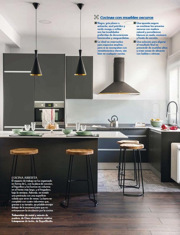 PressReader - Mi Casa: 2018-01-15 - Cocinas con muebles oscuros