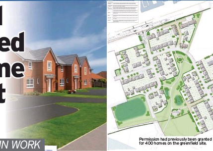??  ?? Permission had previously been granted for 400 homes on the greenfield site.
