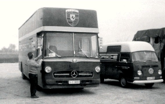 ??  ?? Above: 1970 – a rare photo of the Mercedes SC 9003. This is the only transporter whose current whereabouts is unknown…