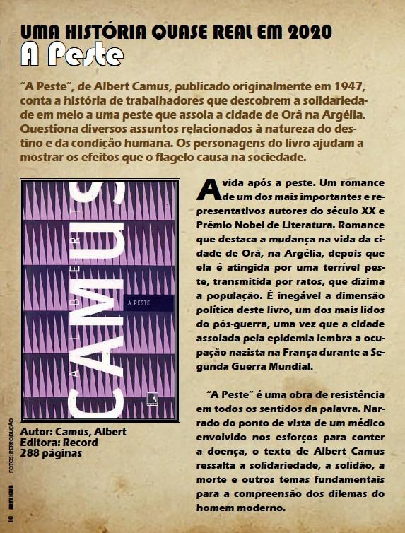 ??  ?? Autor: Camus, Albert Editora: Record 288 páginas
