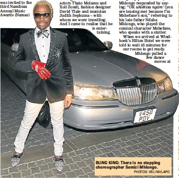Mhlongo Takes Centre Stage With His Chutzpah Pressreader