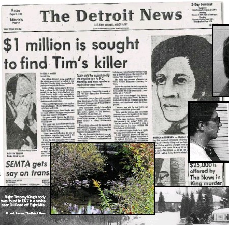 ?? The Detroit News Ricardo Thomas / The Detroit News ?? The front page of The Detroit News in March 1977. Christopher Busch had been convicted four times for sexual conduct with a child. Busch's companion Gregory Greene died in prison in 1995.