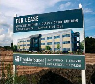 ?? Photo by Nick Stubbs ?? A major office building project recently started on S.R. 54. This one is set to open in the first quarter of 2021. It's just a little east of the Suncoast Parkway.