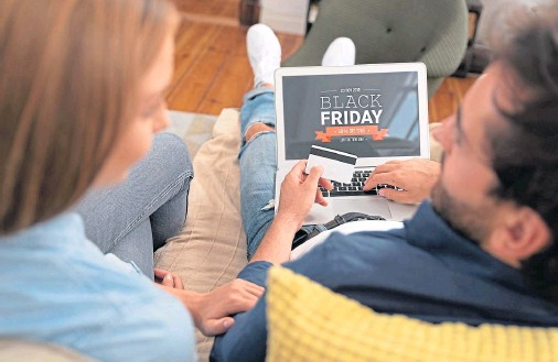 ??  ?? SPLASHING THE CASH: Avoid spending with careless abandon when bargain bonanzas like Black Friday and Cyber Monday come around