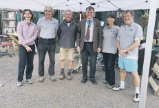 ??  ?? HSCP's five trustees with Dr Tim Fooks