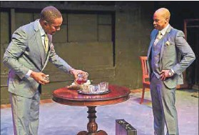 ?? Photo: Lungelo Mbulwana ?? Two-hander: Vusi Kunene (left) and Thulani Nyembe, don't do the play justice, our reviewer contends.
