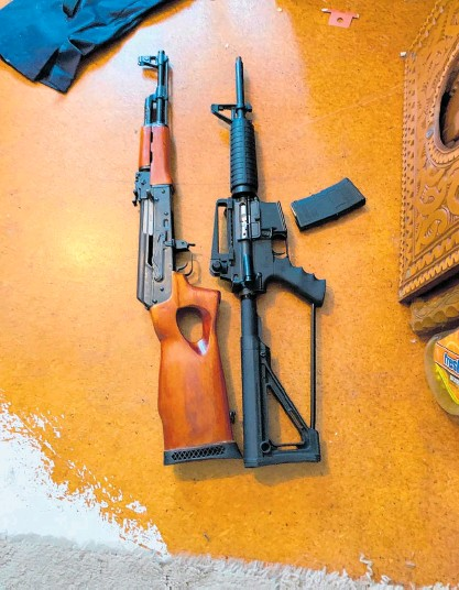 ??  ?? An alarming number of guns have been confiscated by police as part of Operation Tauwhiro