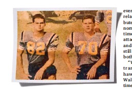 ??  ?? When Walter (left) and Alan played high school football together, they had no idea they were actually related.
