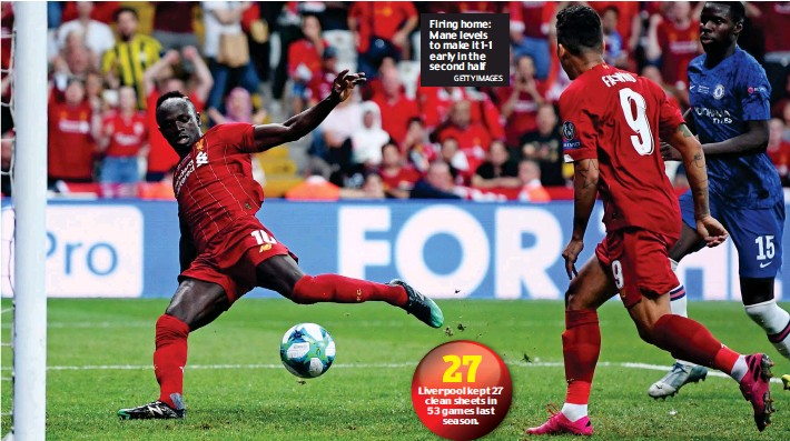 ?? GETTY IMAGES ?? Firing home: Mane levels to make it 1-1 early in the second half